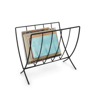 Seville 15.375 in. W Magazine Rack in Black