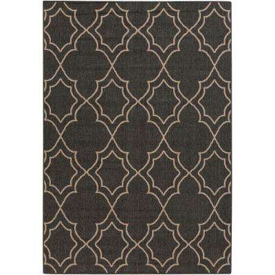Anderson Black 4 ft. x 6 ft. Indoor/Outdoor Area Rug