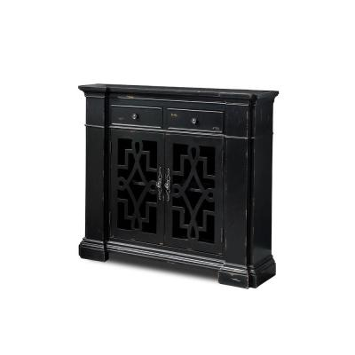 Dany Vintage 2-Door Antique Black Accent Cabinet
