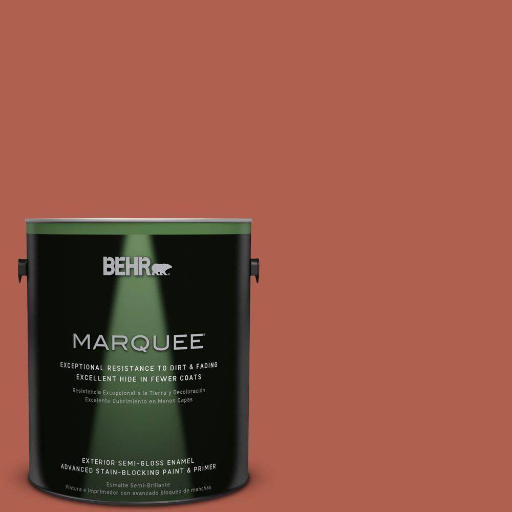 BEHR MARQUEE 1-gal. #BIC-46 Clay Red Semi-Gloss Enamel Exterior Paint