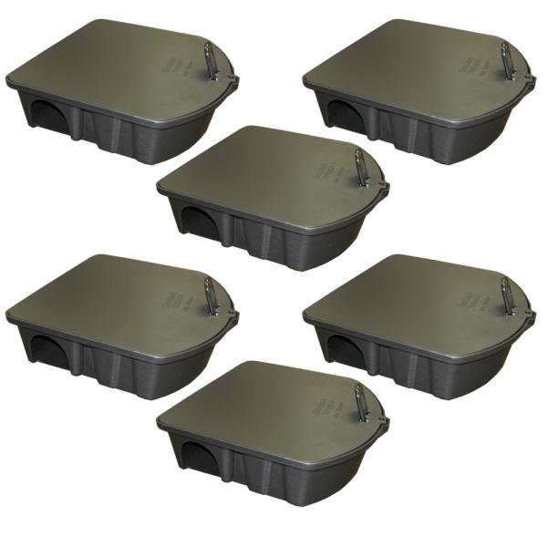 Rat and Mouse Bait Station (6-Pack)