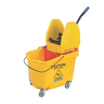 35 qt. Dual Mop Bucket with Down Press Wringer