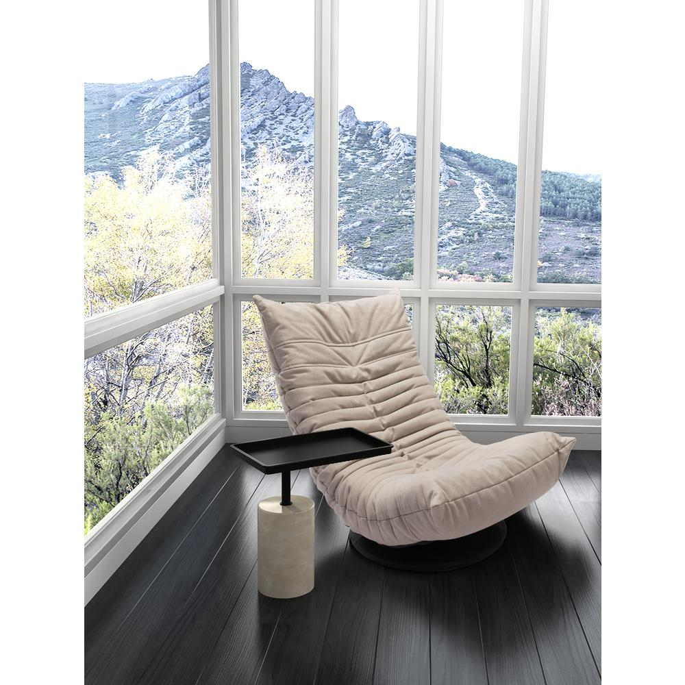 ZUO Dover Black And White Accent Table