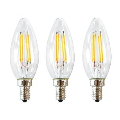 EcoSmart 40-Watt Equivalent B11 E12 Base Dimmable Clear Filament LED Light Bulb, Daylight (48-Pack)