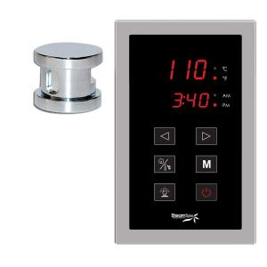 SteamSpa Oasis Programmable Steam Bath Generator Touch Pad Control Kit in Chrome by SteamSpa