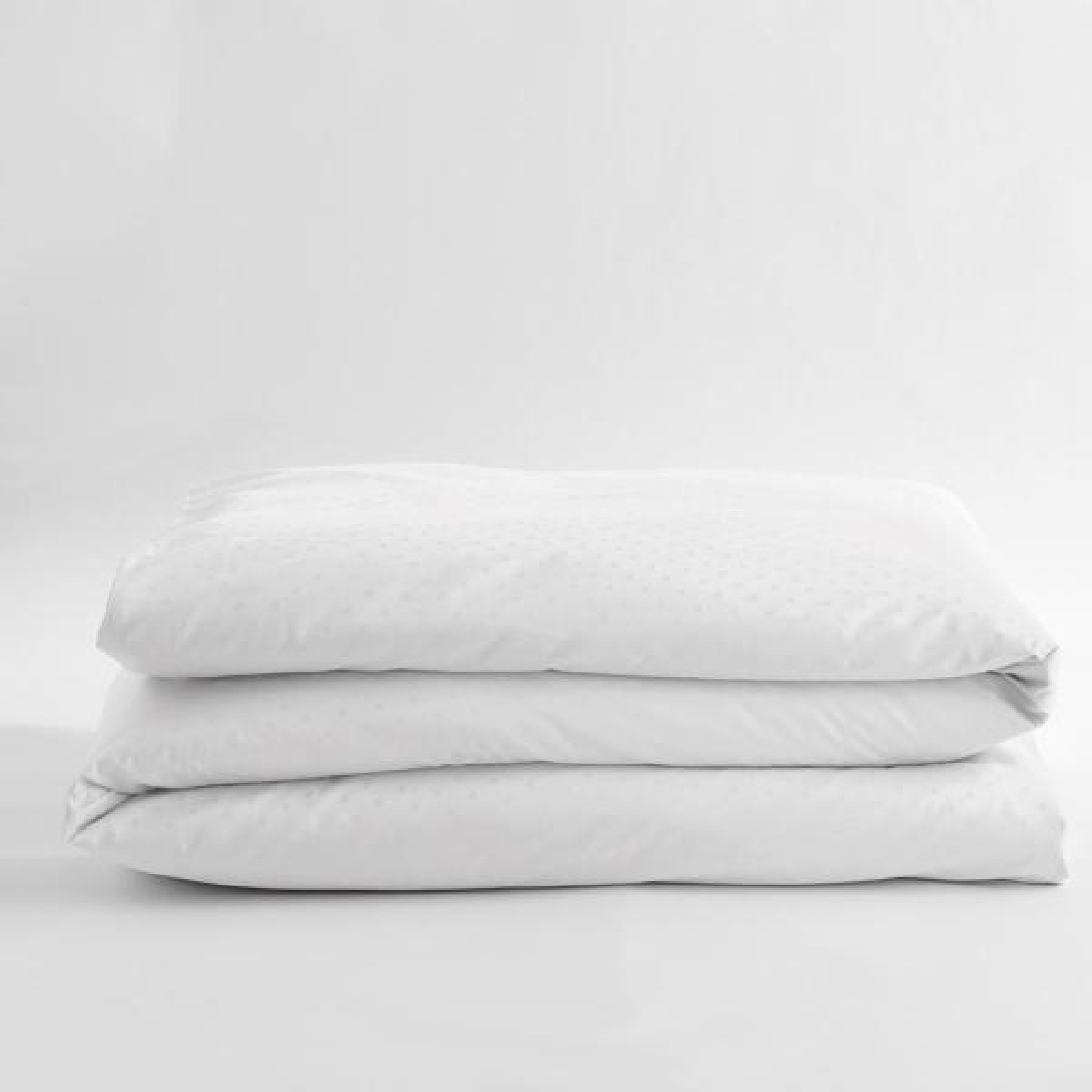 Legends Luxury Dot White Cotton Sateen King Duvet Cover