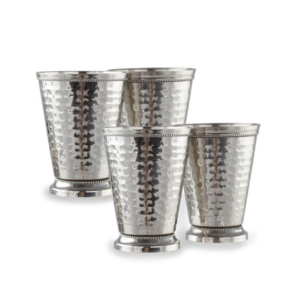 12 oz. Stainless Steel Mint Julep Cup Set (4-Pack)