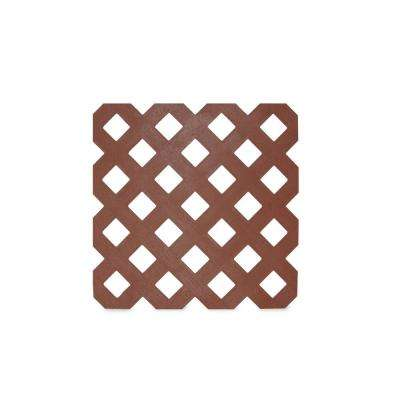 0.125 in. x 48 in. x 8 ft. Adobe Privacy Plastic Lattice (2-Pack)