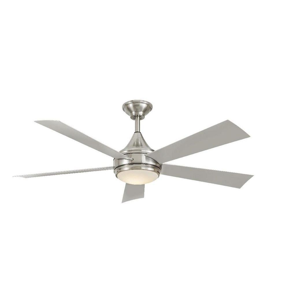 Integrated Led Indoor Outdoor Stainless Steel Ceiling Fan With Light Kit And Wall Control Yg533 Sst Bn The Home Depot