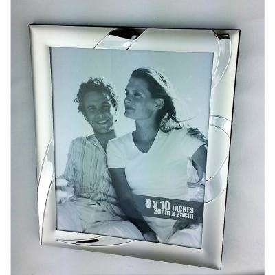 Valentina 8 in. x 10 in. Picture Frame, Satin SP with Silver