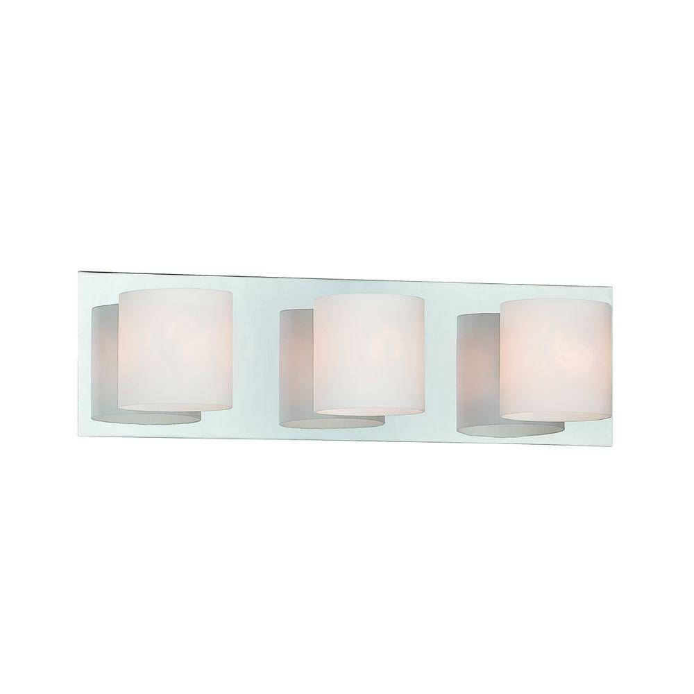 Eurofase Geos Collection 3-Light Chrome Bath Bar Light