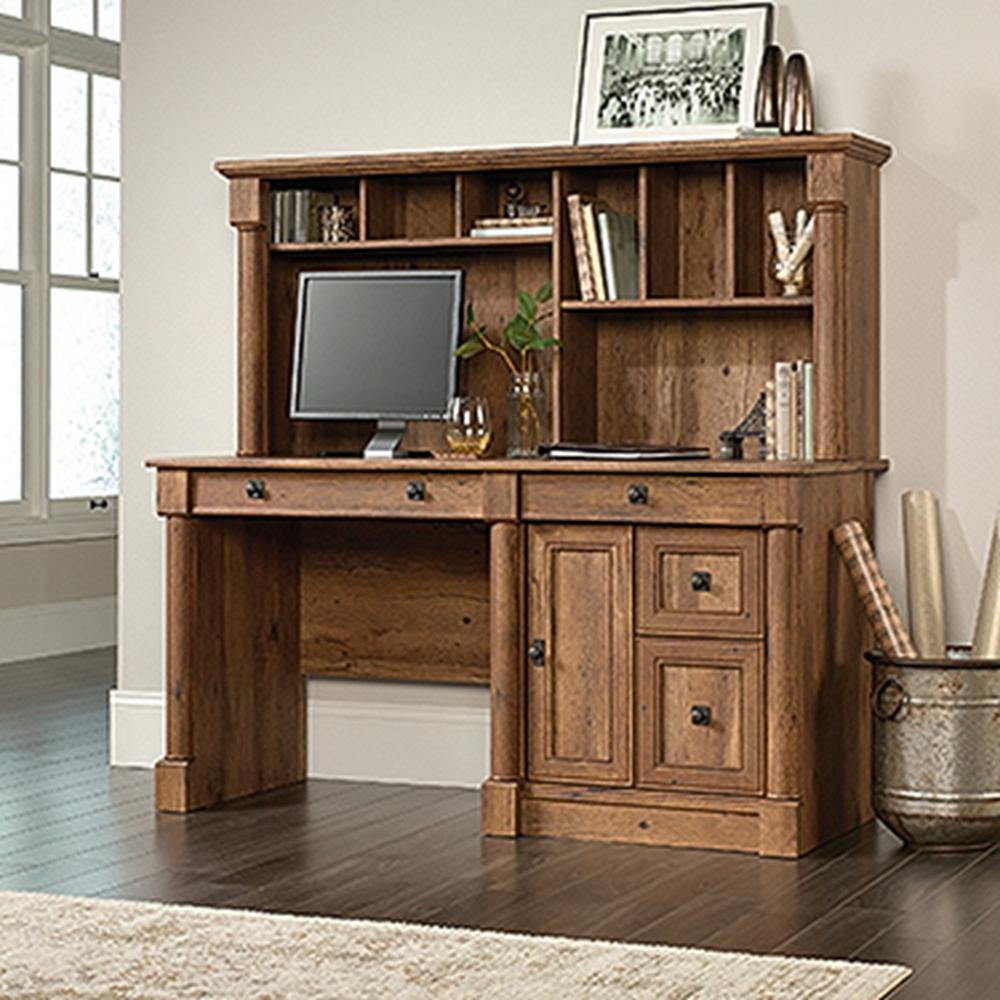 Exceptionnel SAUDER Palladia Vintage Oak Computer Desk With Hutch