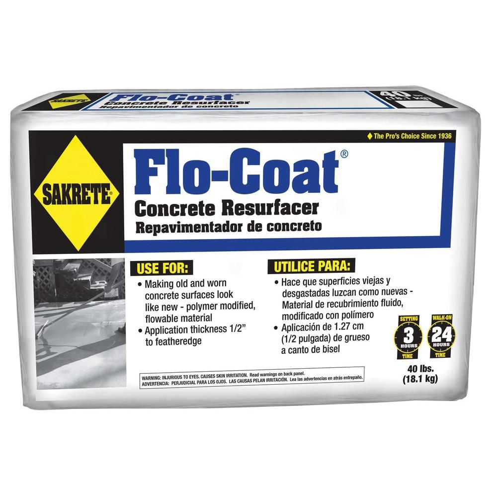 SAKRETE 40 lbs. Gray Flo-Coat Concrete Resurfacer Mix-65450019 - The Home  Depot