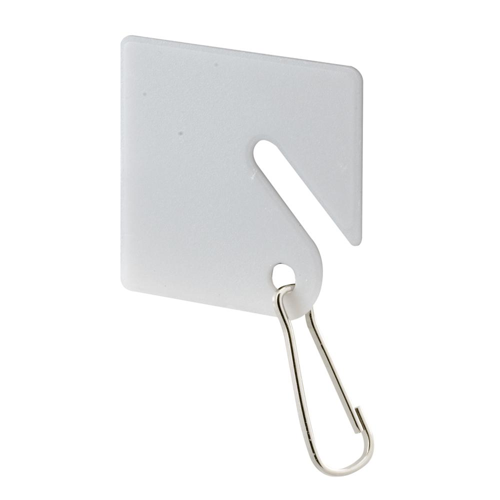 Prime-Line White Plastic Key Tag with Hook
