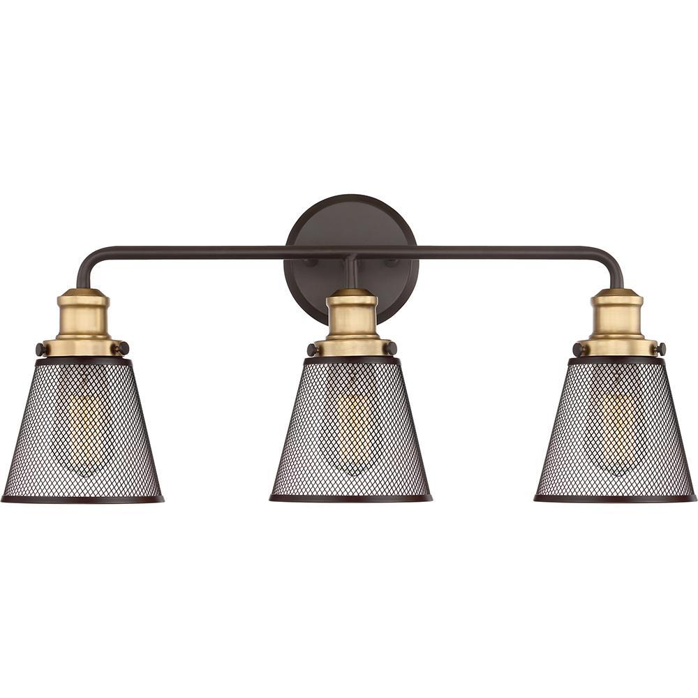 Vault 3-Light Western Bronze Vanity Light