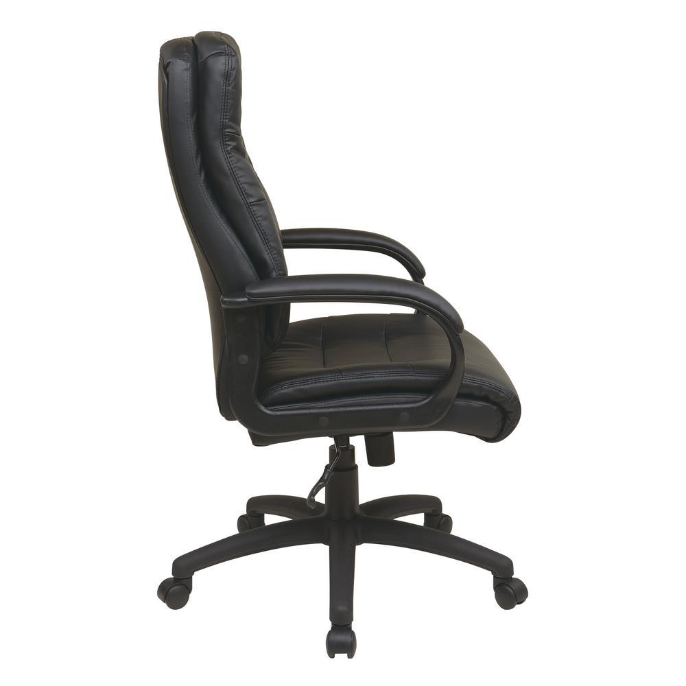 Admirable High Back Black Faux Leather Executive Chair Machost Co Dining Chair Design Ideas Machostcouk