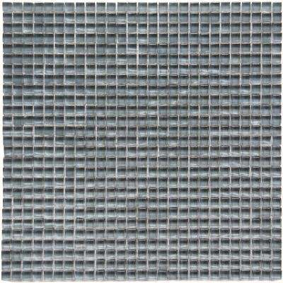 Atlantis Beluga Dark Gray 11-3/4 in. x 11-3/4 in. x 6.35 mm Polished Glass Mosaic Wall Tile (9.58 sq. ft. / case)