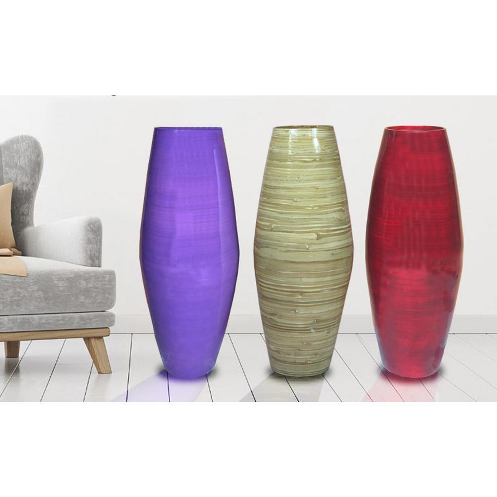Multi Tall Bamboo Floor Decorative Vases