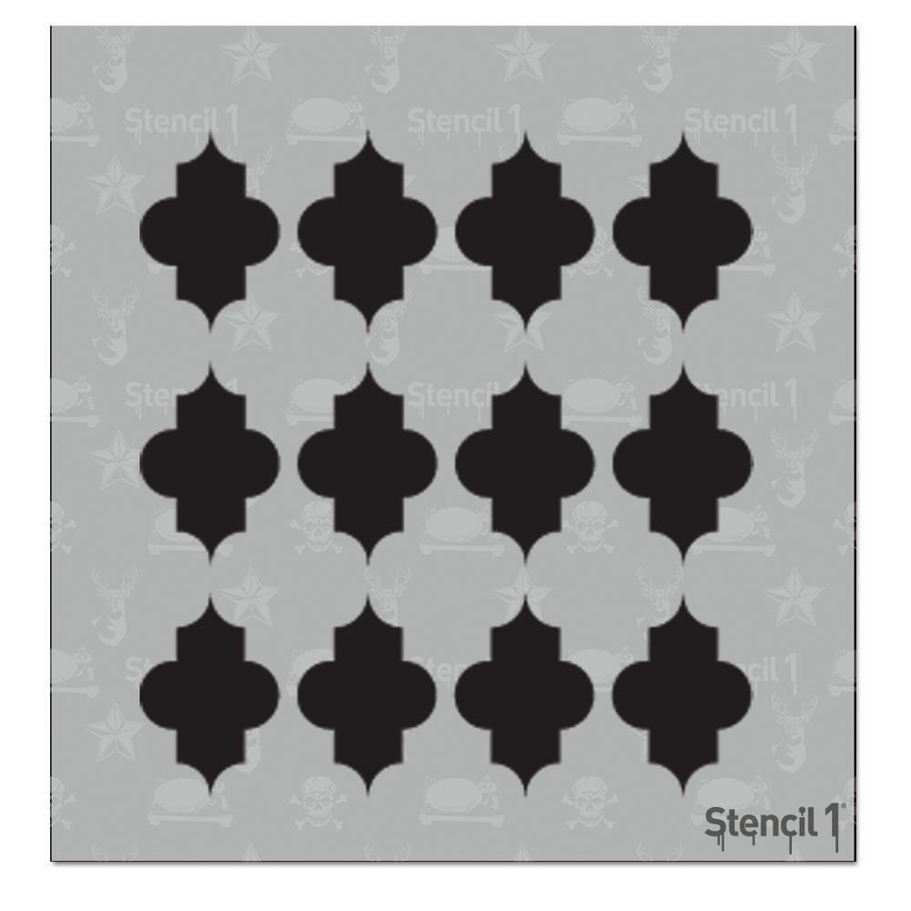 Large Quatrefoil Small Repeat Pattern Stencil