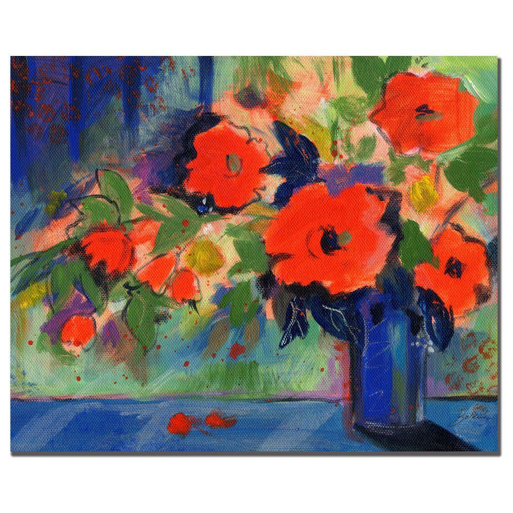 26 in. x 32 in. Red Flowers Canvas Art