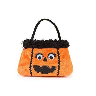 7 in. x 7 in. x 13 in. Jack-O-Lantern Halloween Treat Bag