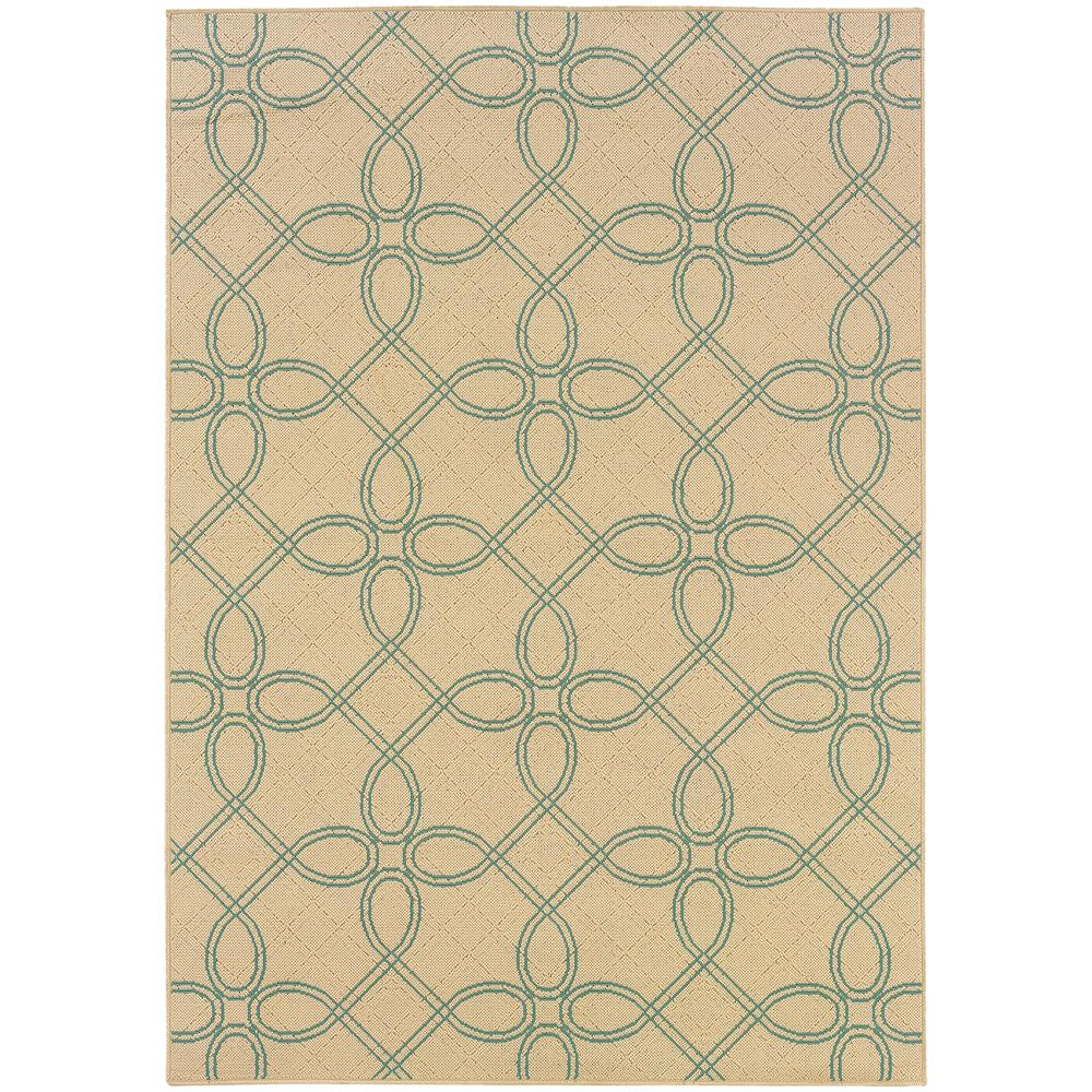 Labyrinth Beige 3 ft. 7 in. x 5 ft. 6 in.