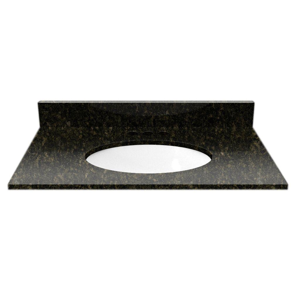 Cardell 31 in. Granite Vanity Top in Uba Tuba with White Basin