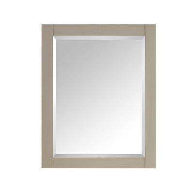 24 in. W x 30 in. H Single Framed Wall Mirror in Taupe Glaze
