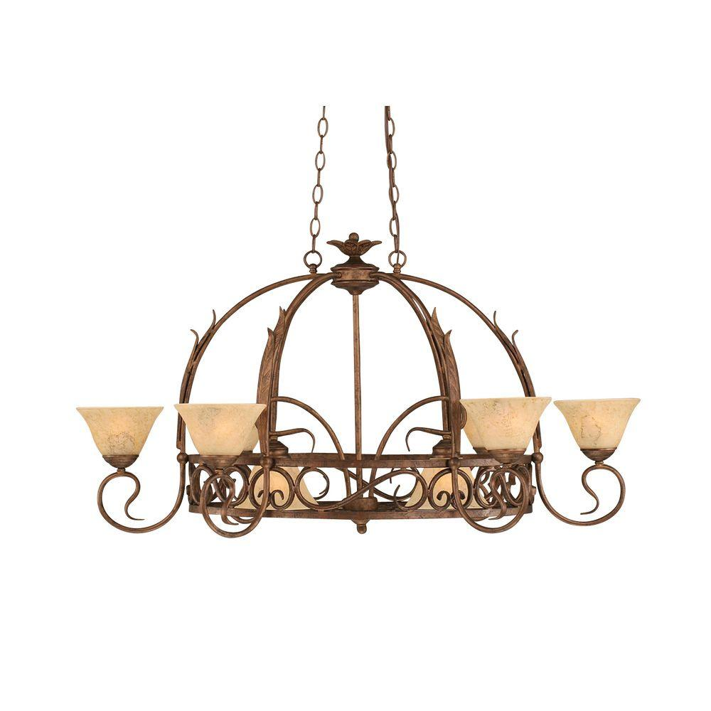 sports shoes ba7a2 c78ff Filament Design Concord Series 8-Light Bronze Chandelier with Italian  Marble Glass Shade