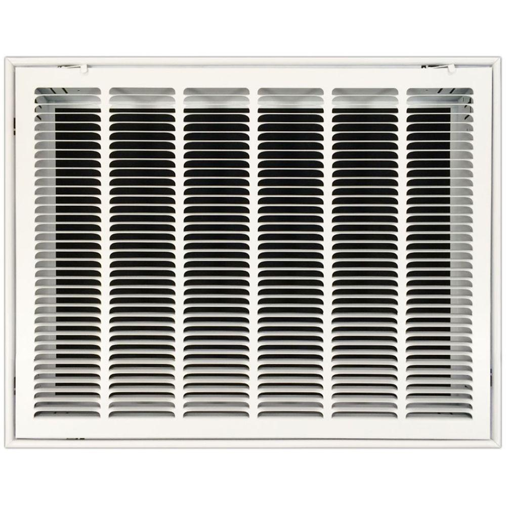 SPEEDI-GRILLE 24 in  x 20 in  Return Air Vent Filter Grille with Fixed  Blades in White