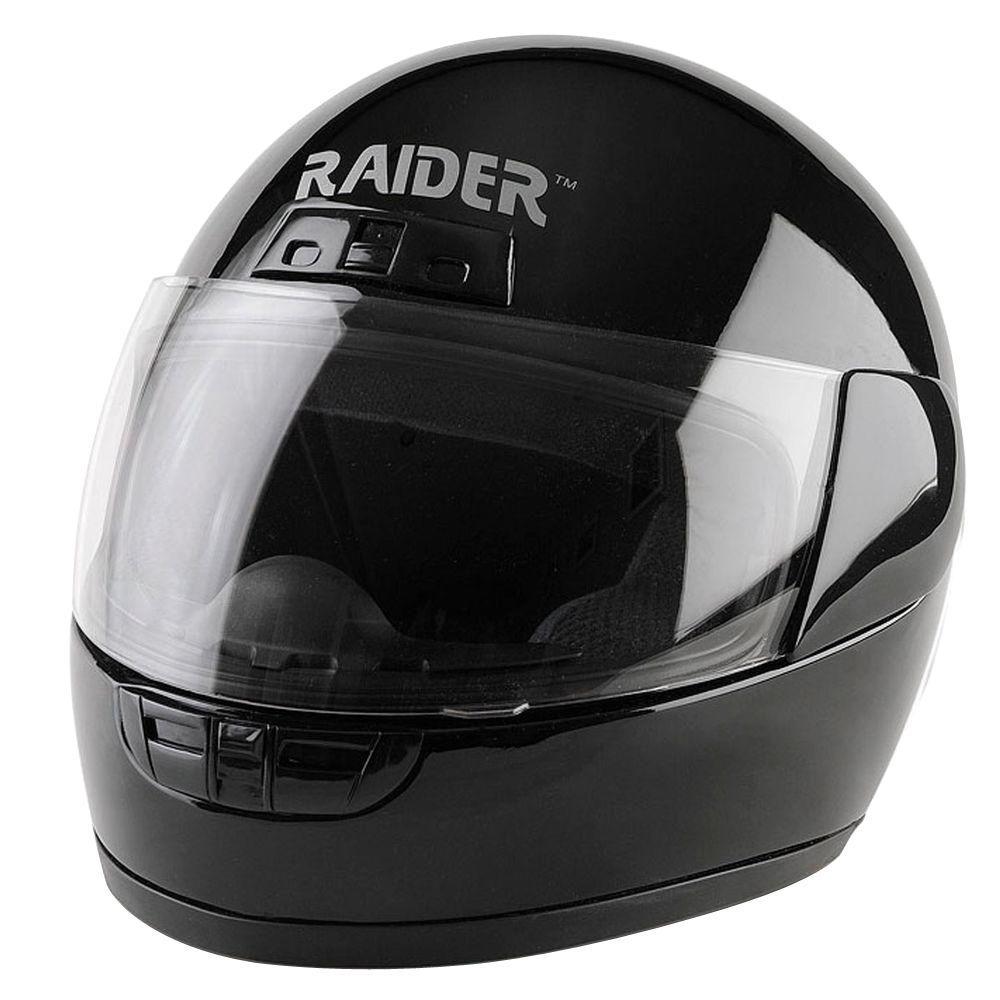 Raider Small Youth Black Full Face Street Helmet 26 622k S