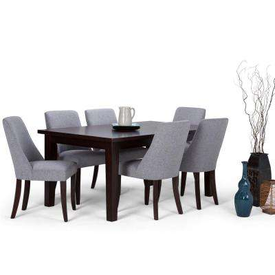 Walden 7 Piece Java Brown Dining Set