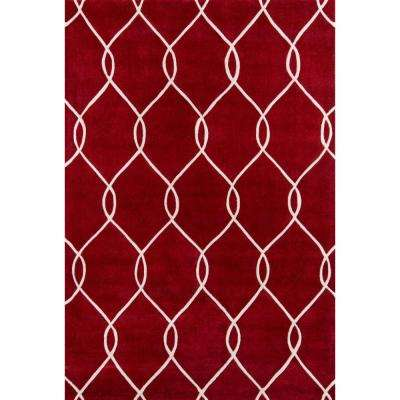Bliss Red 5 ft. x 8 ft. Indoor Area Rug