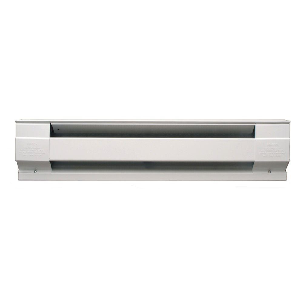 30 in. 500-Watt 208-Volt Electric Baseboard Heater in White