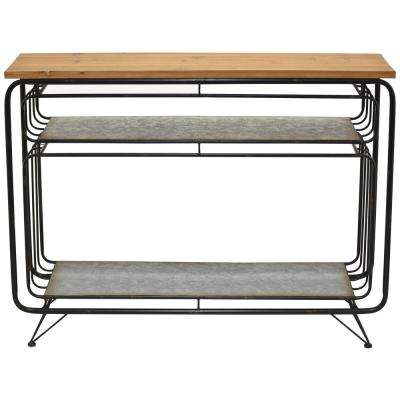 30 in. Gray Metal Table