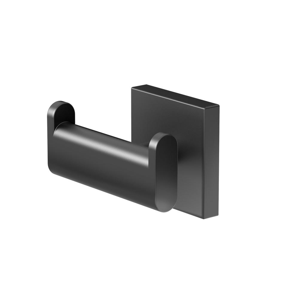 Gatco Elevate Double Robe Hook in Matte Black