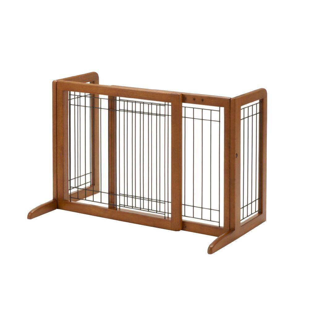 Small Wood Freestanding Pet Gate