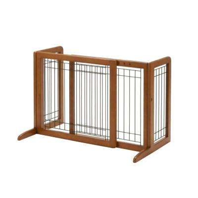 20.1 in. x 40.2 in. Small Wood Freestanding Pet Gate