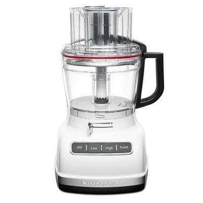 ExactSlice 11-Cup 3-Speed White Food Processor