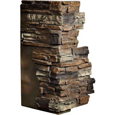 1-1/2 in. x 13-3/4 in. x 25 in. Redstone Urethane Stacked Stone Outer Corner Wall Panel