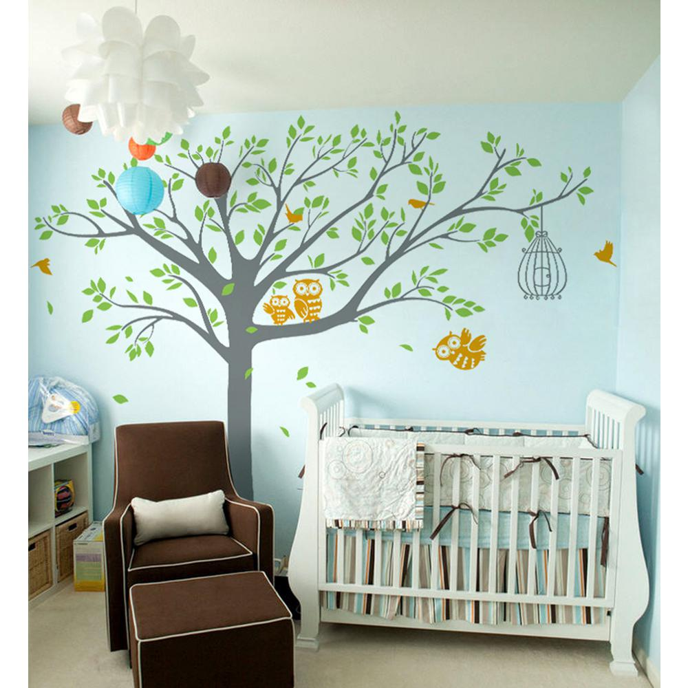 Pop Decors 98 In X 80 In Colorful Nursery Tree With Cute