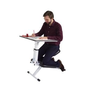 Incredible Victor Technology The Edge Desk Ergonomic White Portable Bralicious Painted Fabric Chair Ideas Braliciousco