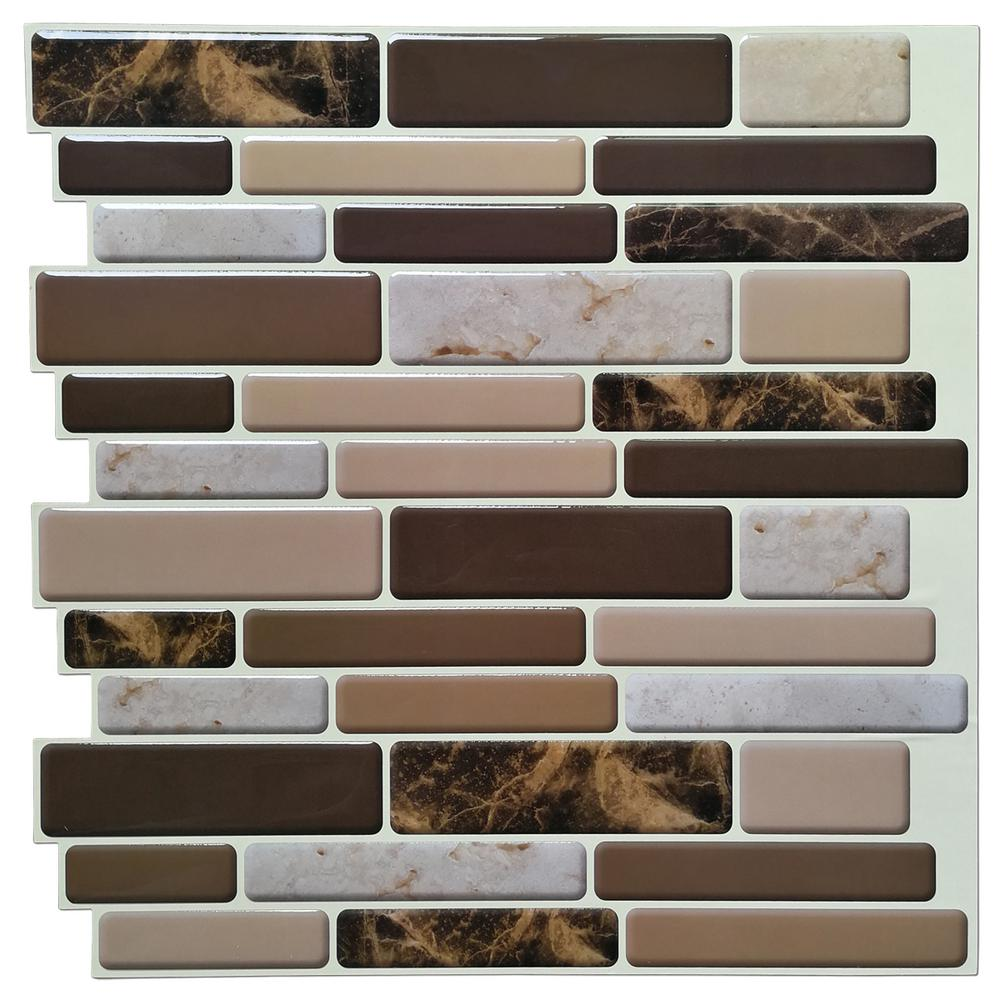 - Art3d 12 In. X 12 In. Peel And Stick Vinyl Backsplash Tile In