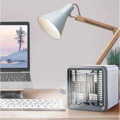 Fan Diameter 4 in. 1- Mini USB Personal Space AirConditioner, Cooling Fan with 3-Speeds and 7- Colors LED Night Light