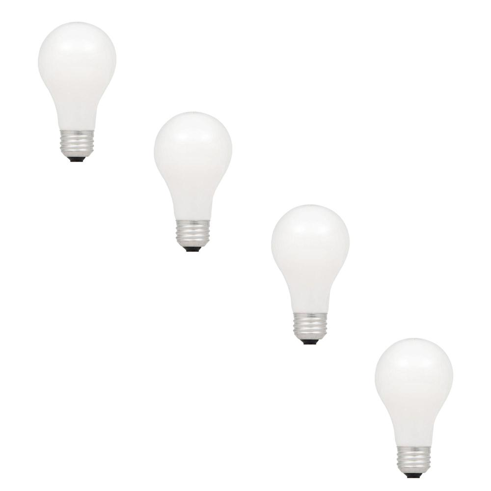 28-Watt Halogen A19 Double Life Dimmable Light Bulb (4-Pack)