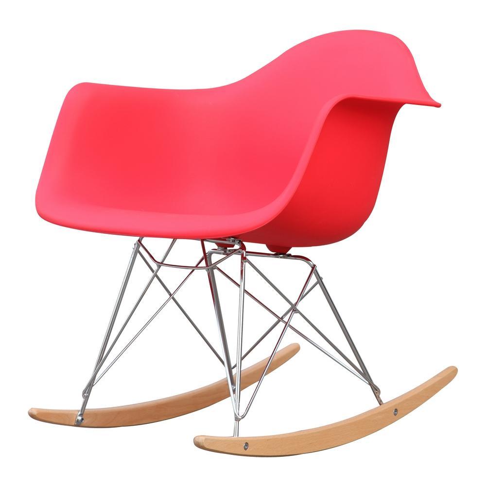 Superieur Red Rocker Arm Chair