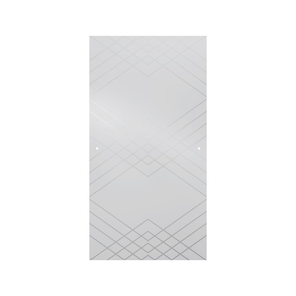 Delta 60 In Sliding Bathtub Door Glass Panels In Argyle
