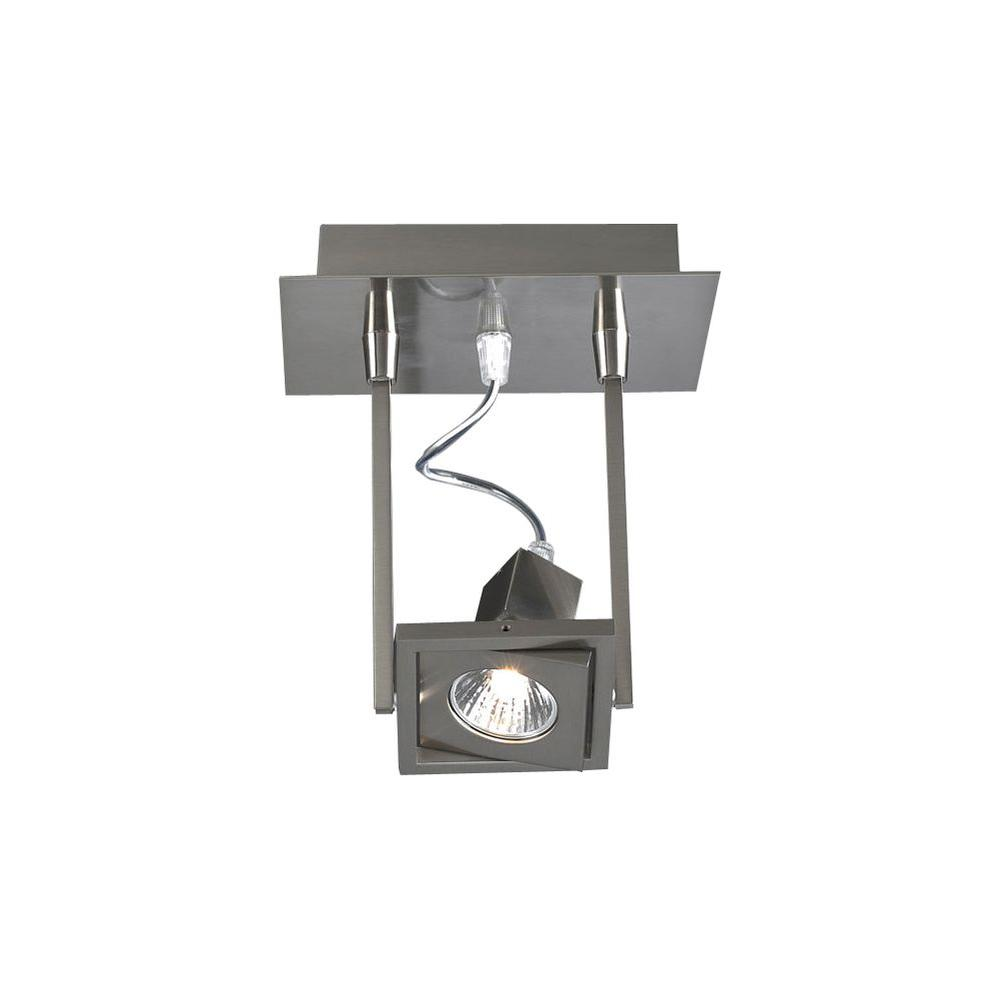1-Light Ceiling Satin Nickel Semi Flush Mount