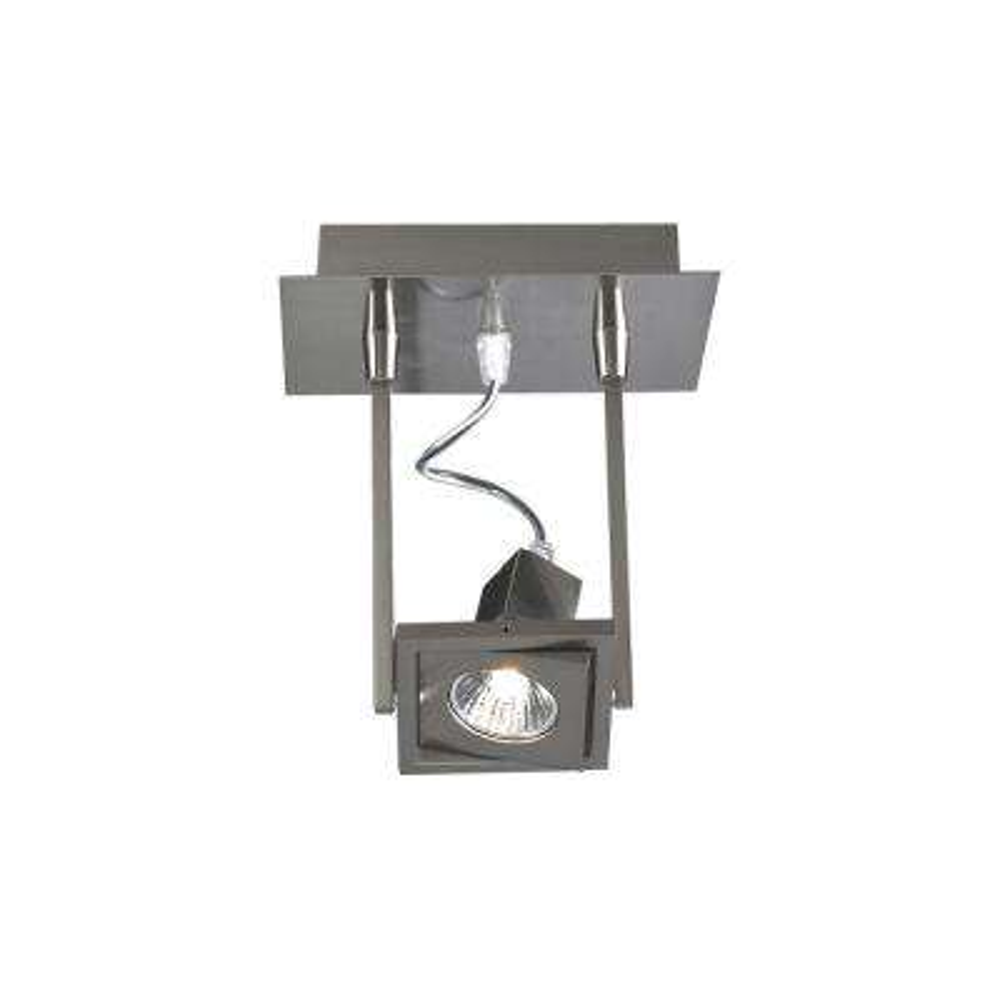 1-Light Ceiling Satin Nickel Semi Flush Mount
