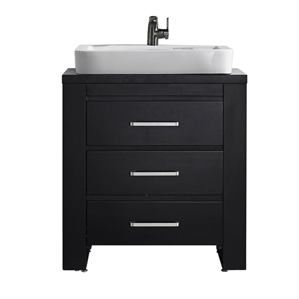 Wood Vanities With Tops Bathroom Vanities The Home Depot - Wooden bathroom sink cabinets